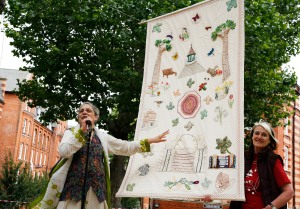 Bagaan had its first outing at last summer's Picnic where it was unveiled by Sandra Kabir (left), director of BRAC UK.