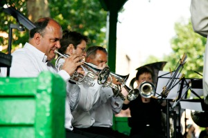 Brass Band playing on Arnold Circus