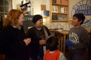 Rachel Whiteread Hollyhock seed print launch at Leila's Shop